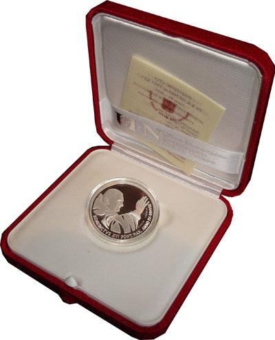 Изображение Подарочные наборы Ватикан Бенедикт XVI 2008 Серебро Proof В подарочный набор в