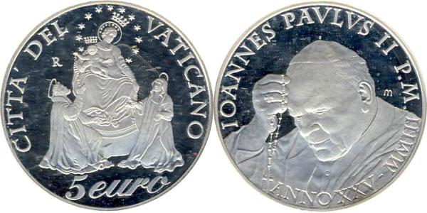 Картинка Подарочные наборы Ватикан Иоанн Павел II Серебро 2003