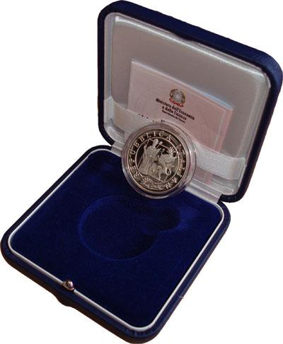 Изображение Подарочные монеты Италия 700-летие университета в Перудже 2008 Серебро Proof