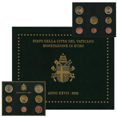 Изображение Подарочные монеты Ватикан Евронабор 2005 2005  UNC Подарочный евронабор