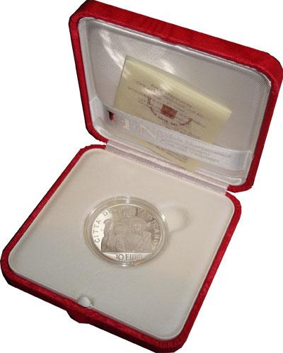 Изображение Подарочные наборы Ватикан Понтифик Бенедикт Иоанн 2008 Серебро Proof