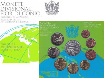 Изображение Подарочные монеты Сан-Марино Регулярный выпуск 2008 года 2008  UNC