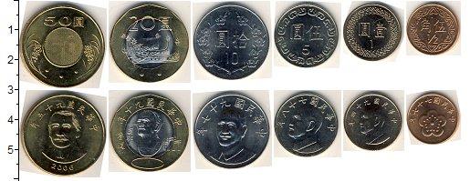 Изображение Наборы монет Тайвань Тайвань 0  UNC В наборе 6 монет ном