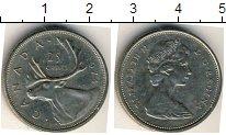 Изображение Мелочь Канада 25 центов 1974 Медно-никель VF Олень