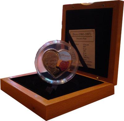 Изображение Подарочные монеты Острова Кука Английская роза 2007 Серебро Proof- Однажды летним тихим