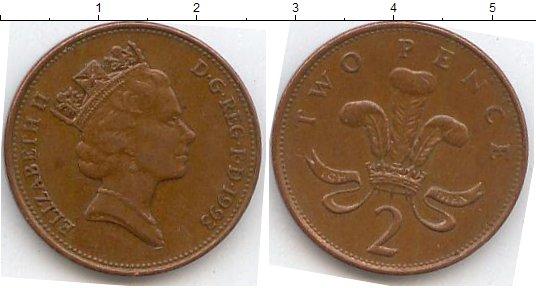 Монеты,великобритания, великобритания 2 пенса 1992, купить, фото, описание, стоимость, цена