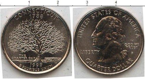 Картинка Мелочь США 1/4 доллара Медно-никель 1999