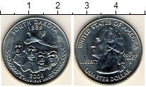Изображение Мелочь США 1/4 доллара 2006 Медно-никель UNC Южная Дакота 1889. D