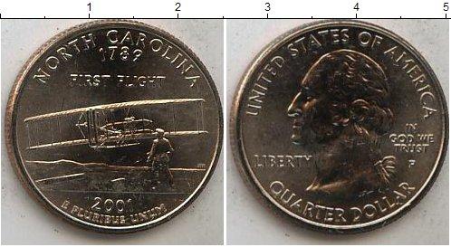 Картинка Мелочь США 1/4 доллара Медно-никель 2001