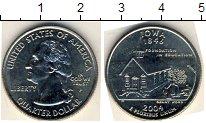 Изображение Мелочь США 1/4 доллара 2004 Медно-никель XF P. Айова
