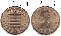 Изображение Мелочь Великобритания 3 пенса 1967