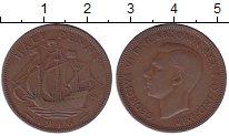 Изображение Мелочь Великобритания 1/2 пенни 1945 Медь