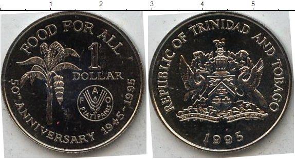 Картинка Мелочь Тринидад и Тобаго 1 доллар Медно-никель 1995