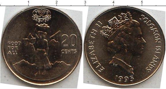 Картинка Мелочь Соломоновы острова 20 центов Медно-никель 1995