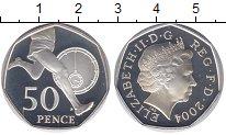 Изображение Мелочь Великобритания 50 пенсов 2004 Серебро