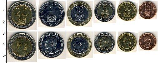 Изображение Наборы монет Кения Кения 1995-2005 0  AUNC В наборе 6 монет ном