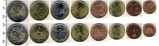 Изображение Наборы монет Италия Италия 2002-2010 0  UNC В наборе 8 монет ном