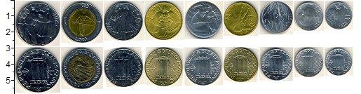 Изображение Наборы монет Сан-Марино Сан-Марино 1985 1985  AUNC Набор состоит из 9 м