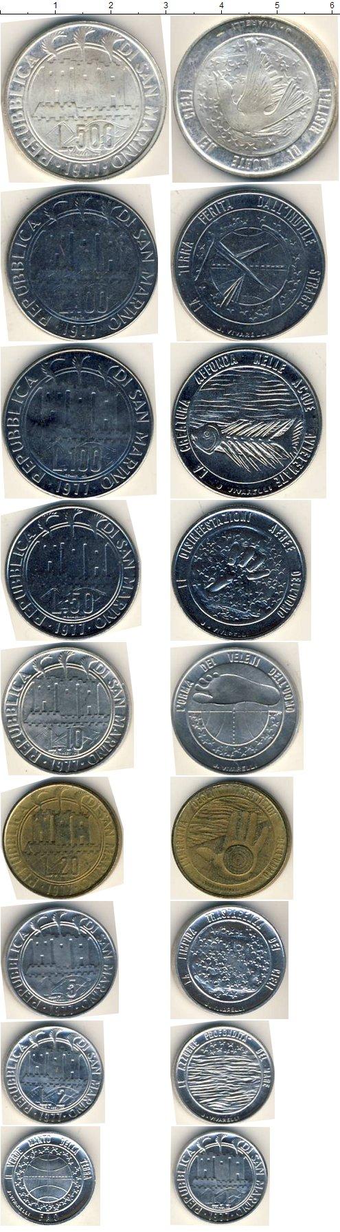 Картинка Наборы монет Сан-Марино Сан-Марино 1977  1977