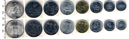 Изображение Наборы монет Сан-Марино Сан-Марино 1972 1972  AUNC В наборе 8 монет