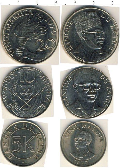 Картинка Наборы монет Заир Заир 1976-1978 Медно-никель 0