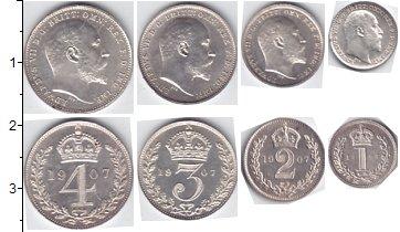 Изображение Наборы монет Великобритания Маунди-сет 1907 (Благотворительный набор) 1907 Серебро UNC
