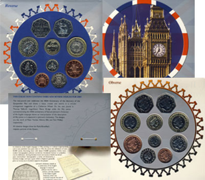 Изображение Подарочные монеты Великобритания Годовой набор 2005 2005  AUNC Представляем вашему