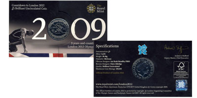 Изображение Подарочные монеты Великобритания Олимпийские игры 2012 2009 Медно-никель AUNC Представляем вам мон