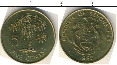 Картинка Мелочь Сейшелы 5 центов  1982
