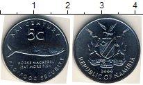 Изображение Мелочь Намибия 5 центов 2000 Сталь UNC