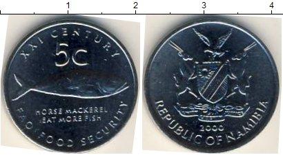 Картинка Мелочь Намибия 5 центов Медно-никель 2000