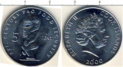 Картинка Мелочь Острова Кука 5 центов Медно-никель 2000