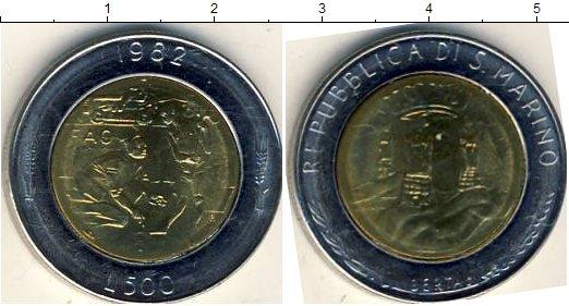 Картинка Мелочь Сан-Марино 500 лир Биметалл 1982