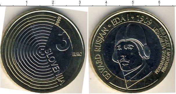 Картинка Мелочь Словения 3 евро Биметалл 2009
