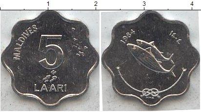 Картинка Мелочь Мальдивы 5 лари Алюминий 1984