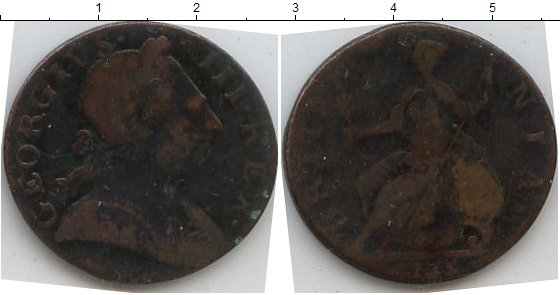 Картинка Монеты Великобритания 1/2 пенни Медь 0