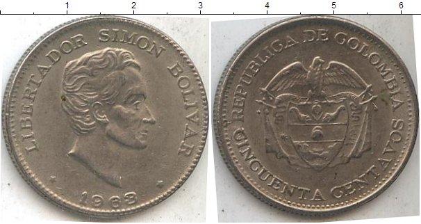 Картинка Мелочь Колумбия 50 сентаво Медно-никель 1963