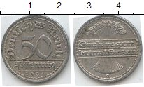 Изображение Мелочь Веймарская республика 50 пфеннигов 1921 Алюминий XF G