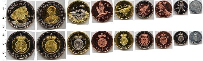 Изображение Наборы монет Редонда Редонда 2009 2009  AUNC <br>В наборе из 9 мо