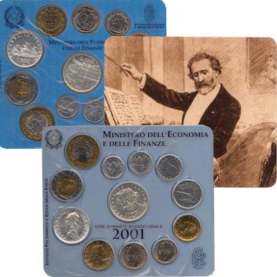 Изображение Подарочные монеты Италия Джузеппе Верди 2001   100 лет со дня смерт