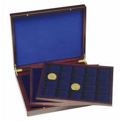 Картинка Аксессуары для монет Кейсы Деревянный кейс для монет HMK 3T 20 M BL (304747)  0