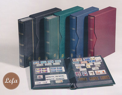 Картинка Аксессуары для монет Для марок  Альбом для марок LZS 4/32 КR PREMIUM (316139)  0