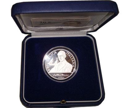 Изображение Подарочные монеты Италия Гульельмо Маркони 2009 Серебро Proof