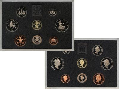 Изображение Подарочные монеты Великобритания Великобритания 1990 1990  Proof Подарочный набор Вел