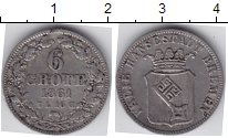 Изображение Монеты Бремен 6 гротен 1861 Серебро
