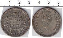 Изображение Мелочь Индия 1 рупия 1944 Серебро  Георг VI