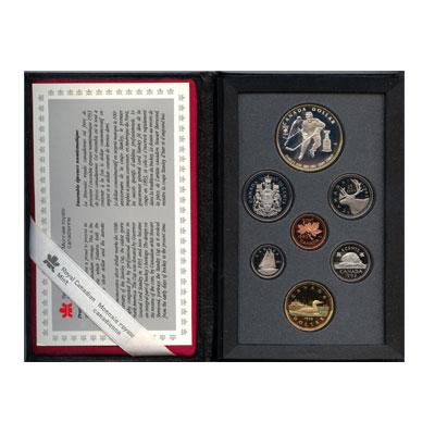 Изображение Подарочные монеты Канада Хоккей 1993 Серебро Proof Хоккей. Подарочный н