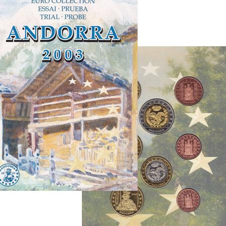 Изображение Подарочные монеты Андорра Евронабор 2003 года 2003   Евронабор 2003 года