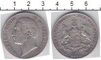 Изображение Монеты Вюртемберг 1 талер 1858 Серебро  Вильгельм
