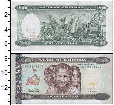 Изображение Банкноты Эритрея 20 накф 1997  UNC